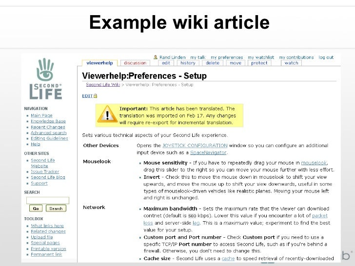 Example wiki article