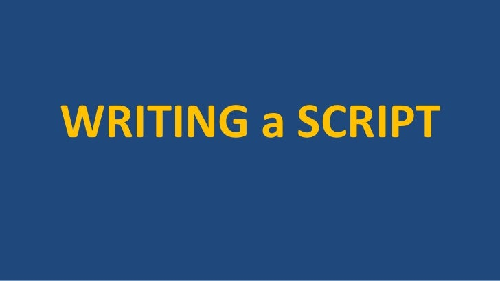 Writing a playscript - PowerPoint PPT Presentation