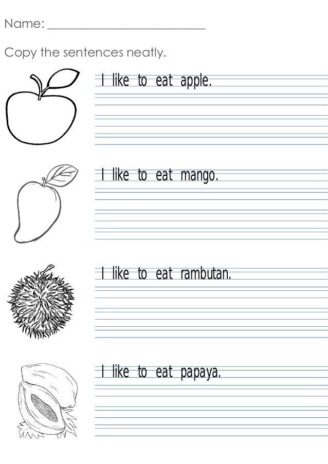 writing simple sentences worksheets pdf