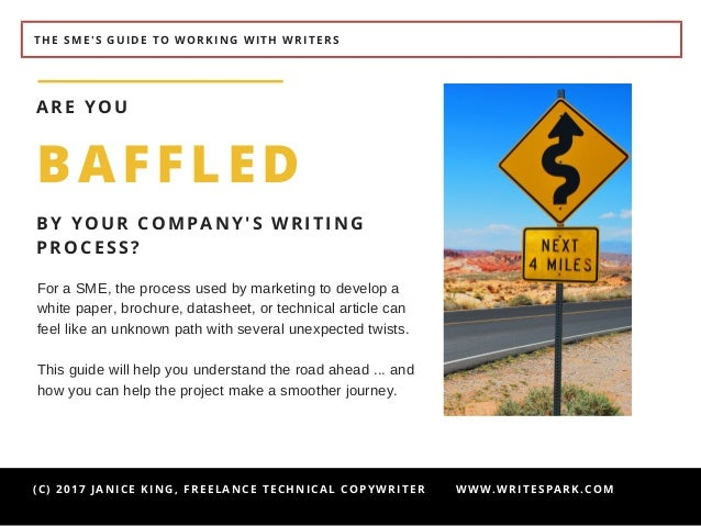 The SME's Guide to Working with Writers Slide 3