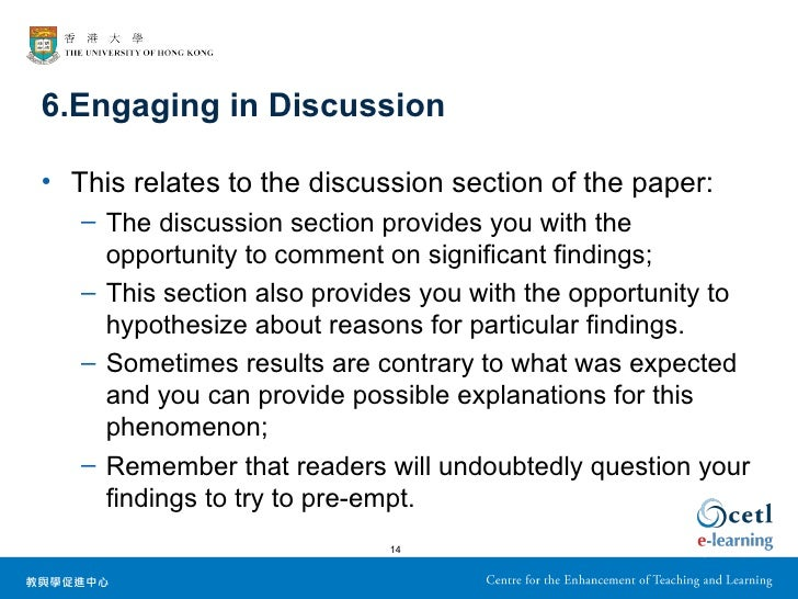 write discussion part research paper Writing a discussion section in for a research paper.