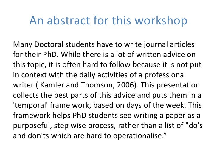 Write That Journal Article In  Days