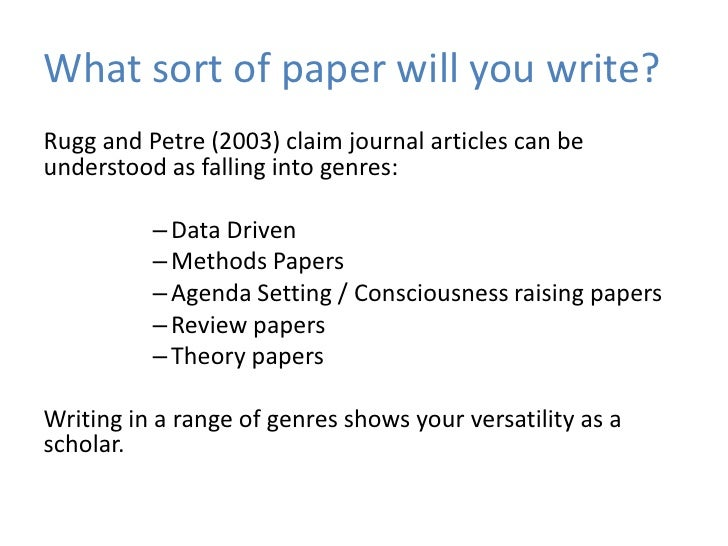 write on a paper