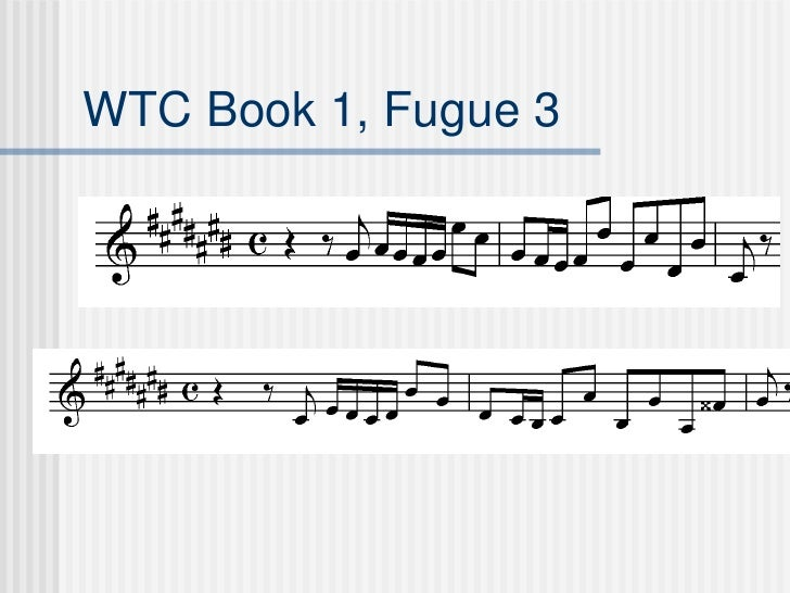How to write a fugue glenn gould