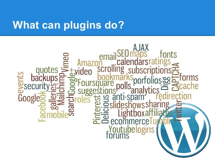 What can plugins do?