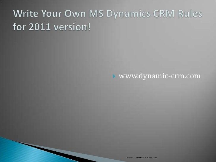   www.dynamic-crm.com     www.dynamic-crm.com