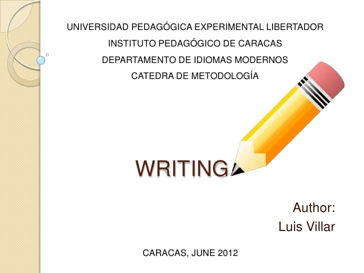UNIVERSIDAD PEDAGÓGICA EXPERIMENTAL LIBERTADOR       INSTITUTO PEDAGÓGICO DE CARACAS      DEPARTAMENTO DE IDIOMAS MODERNOS...
