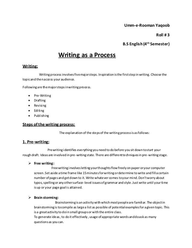 drafting techniques for writing process