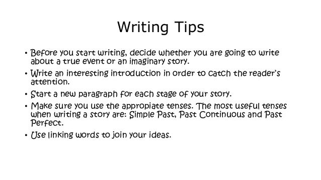 How to write a story.