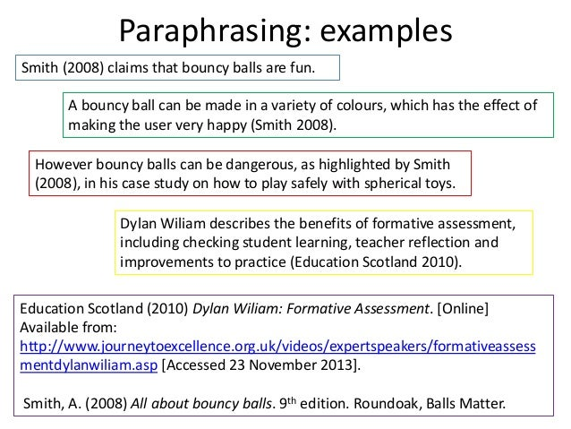 Benefits of paraphrasing version