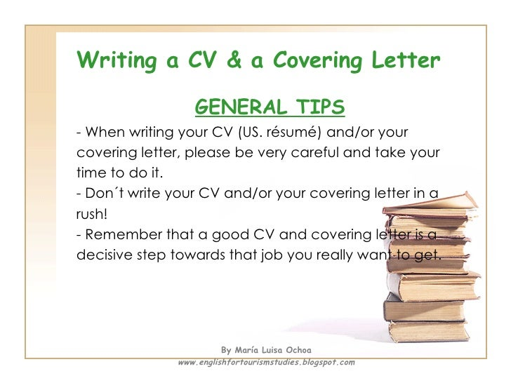 Writing A CV U0026 A Covering Letter ...