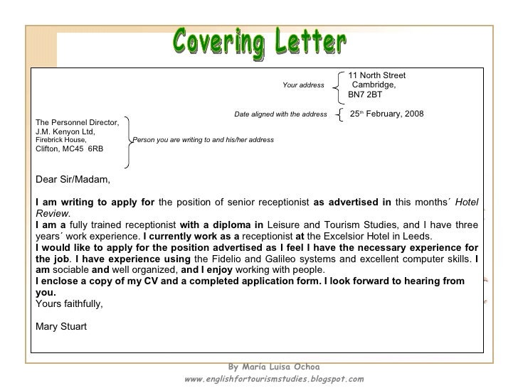 How to write a cv and a covering letter for Who should you address your cover letter to