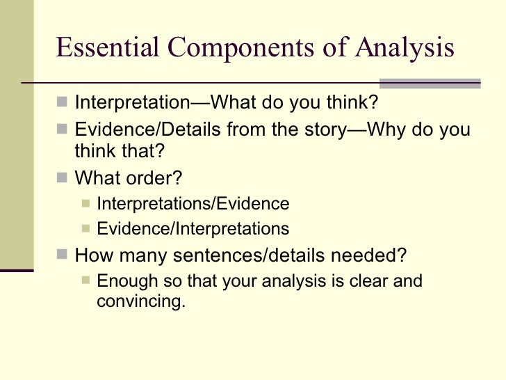 writing a literary analysis essay  16 essential components of analysis