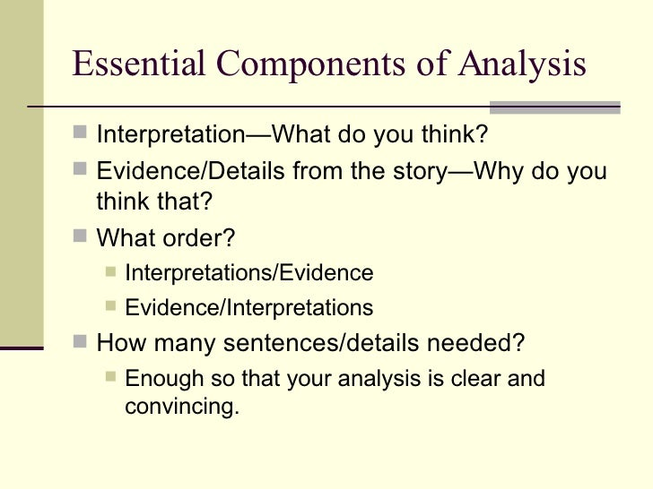 what to write in an analysis