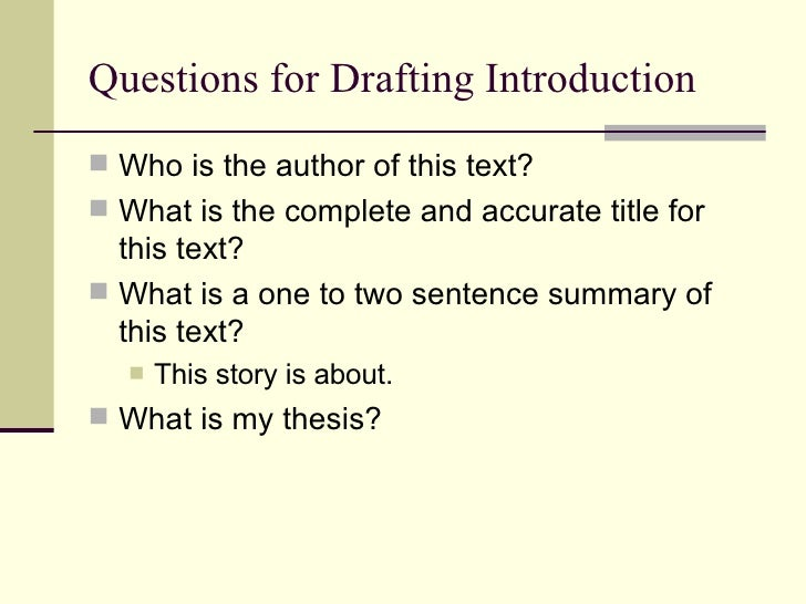 "an introduction to the analysis of my writing process Process analysis (""how to"") here is some detailed information about writing your process time the reader finishes your introduction."