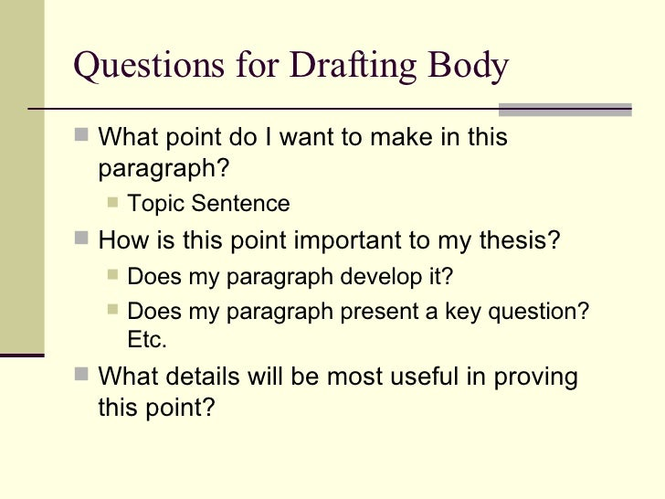 Literary essay questions