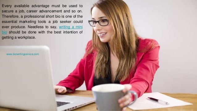 Writing a Mini Bio for Different Jobs Slide 3