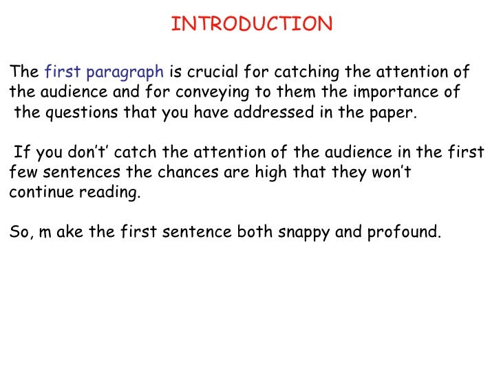 research paper introduction paragraphs