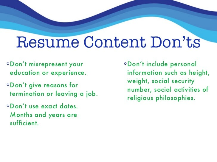 reasons for leaving on a resume