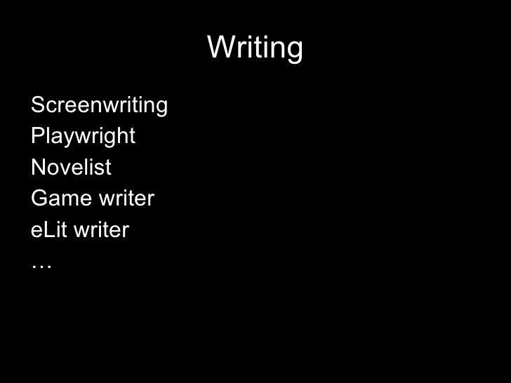 Writing Across Media Slide 2