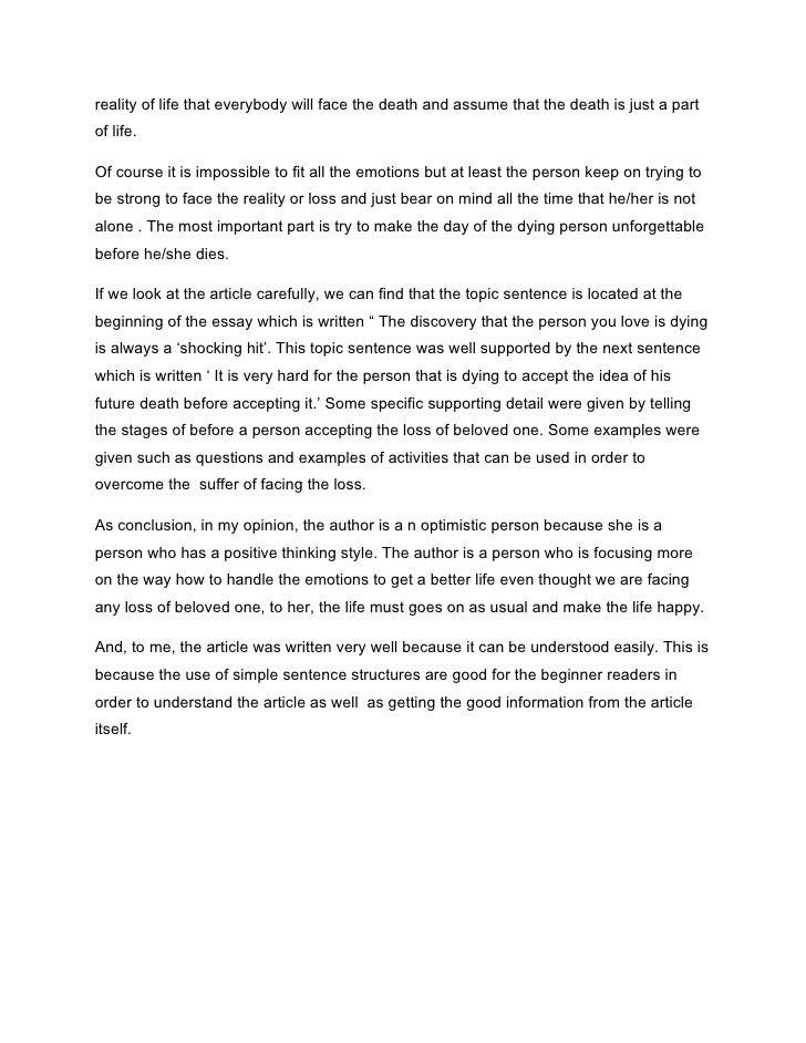 Near death experience essay
