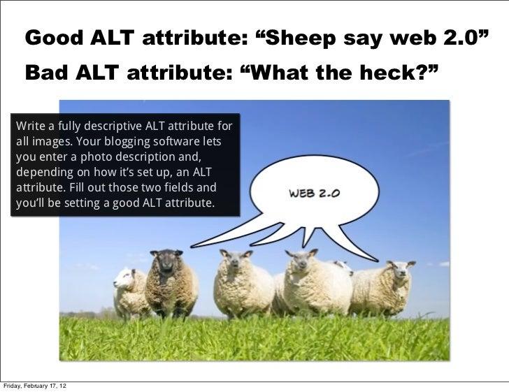Good Alt Attribute Sheep Say
