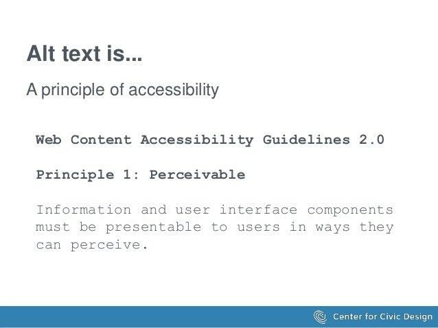 Writing Great Alt Text Slide 3