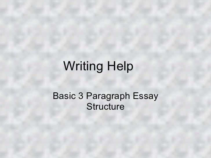 Writing Help Basic 3 Paragraph Essay Structure