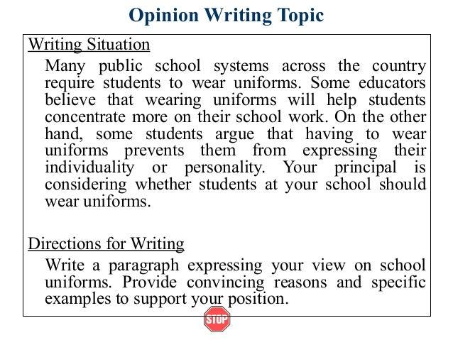 Editorial essay of school