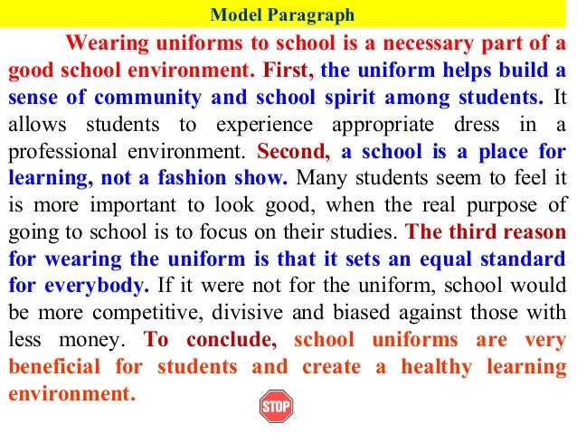 uniforms the benefits essay The debate over mandatory school uniforms is a raging topic in our country proponents of school uniforms conclude that there are many potential benefits to mandatory school uniforms, while opponents heartily challenge their claims.