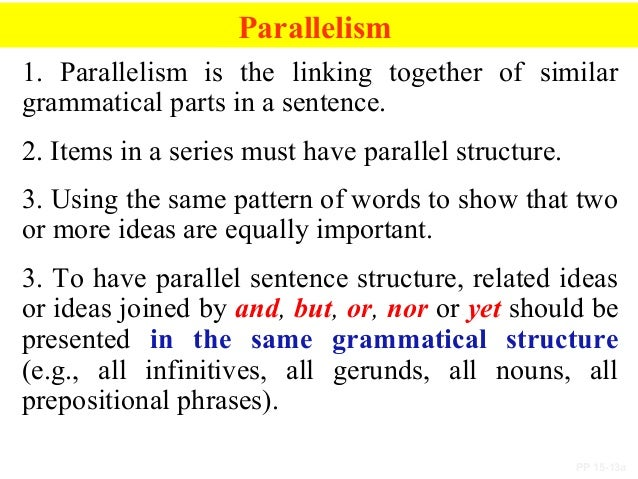 parallel structure sentence