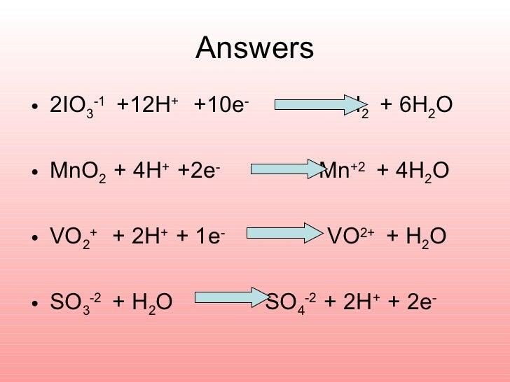 how to write half equations