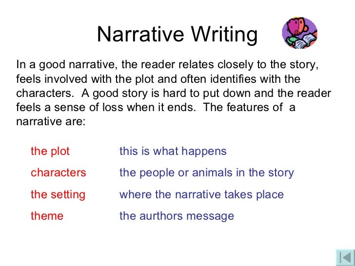 characteristics of an effective narrative essay Characteristics of good stories •think about some of your favourite movies, books and stories •what makes these favourites so personal narrative writing.