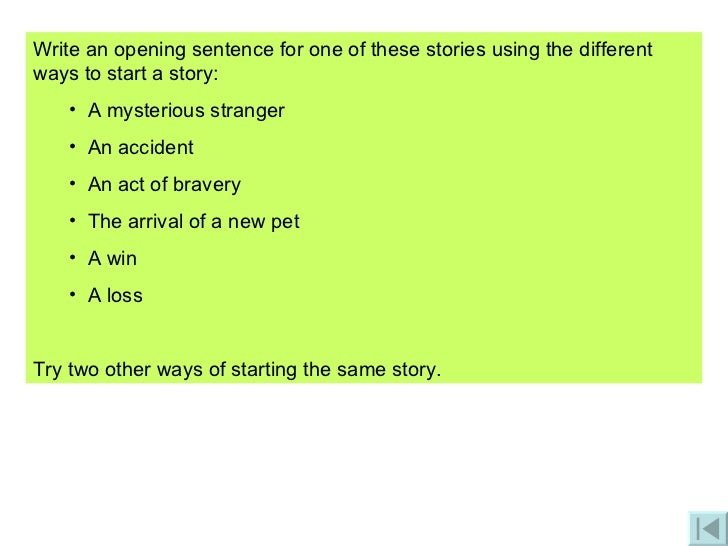 different ways to write a story