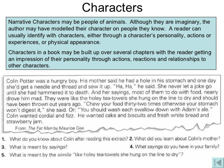 creative writing character description