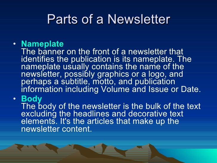 how to write a newsletter article