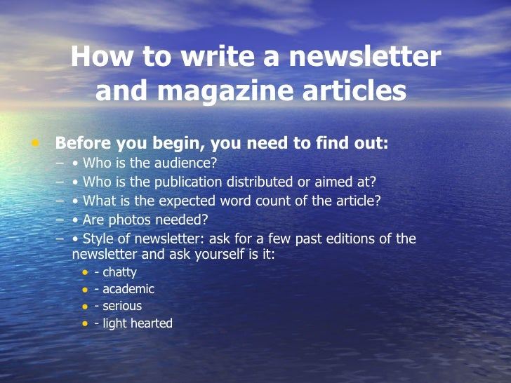 how to write a magazine article bibliography