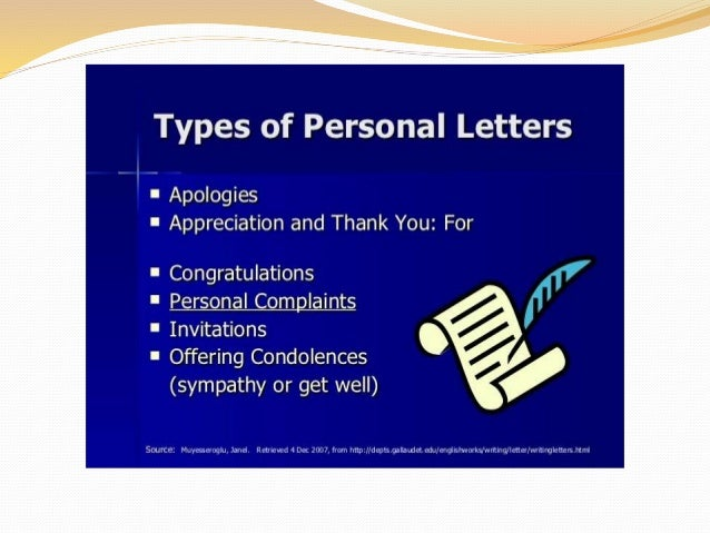 Writing personal letter