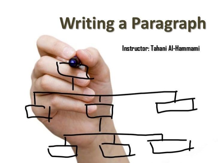 Writing a Paragraph        Instructor: Tahani Al-Hammami