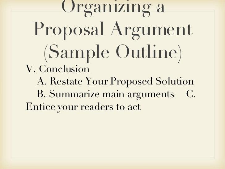 Proposal argument essay outline