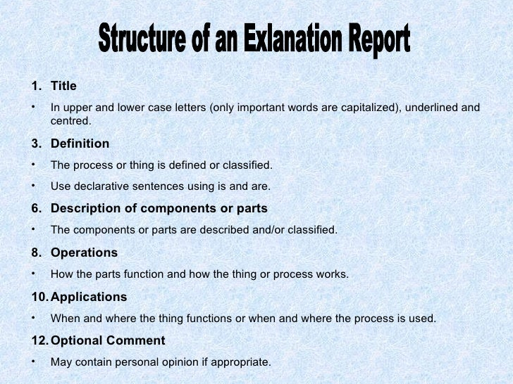 writing reports structure