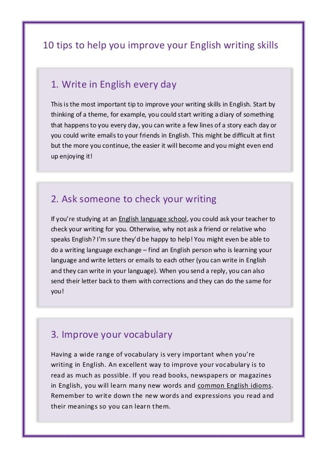 Essay about How to Improve English - Words