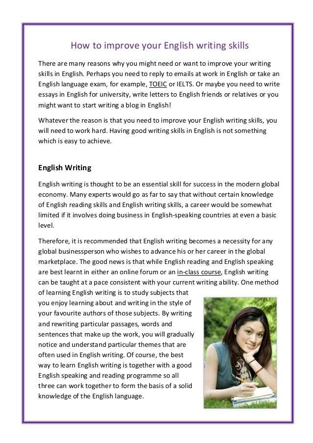 How To Improve English Writing Skills Pdf