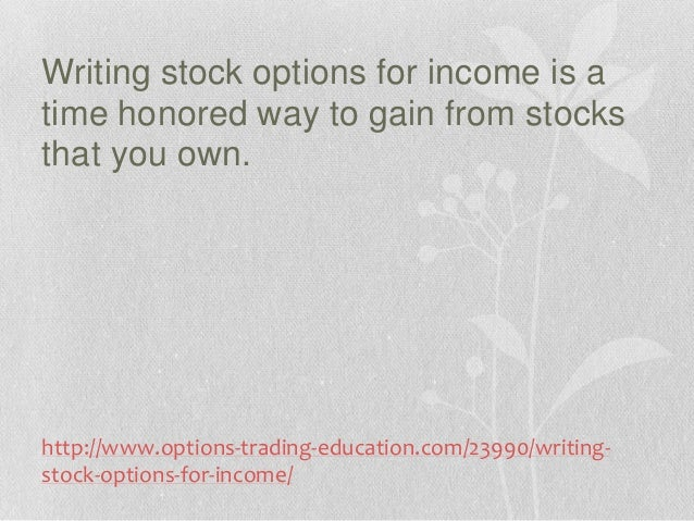 Stock options as income