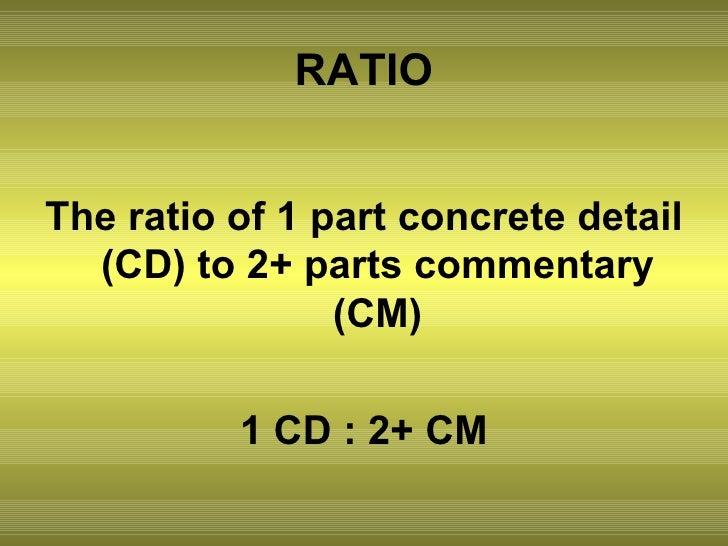 Essay format concrete detail commentary