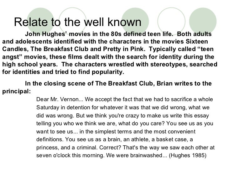 final essay from the breakfast club org final essay from the breakfast club