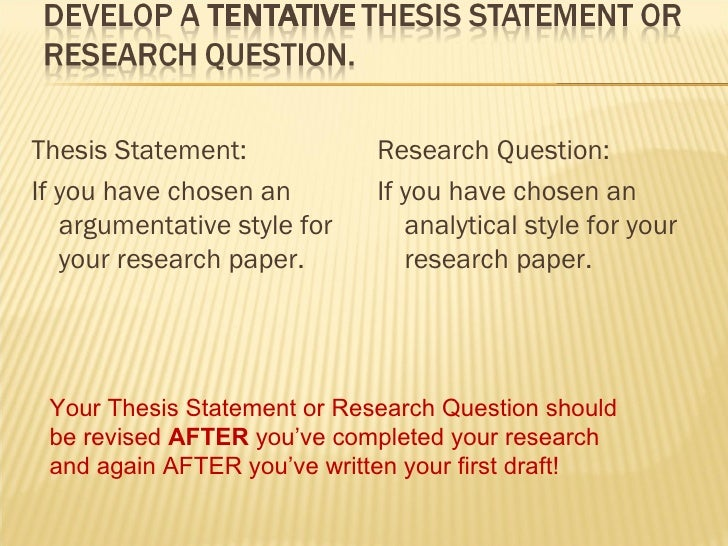 argumentative style research paper