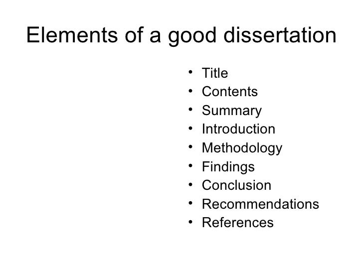 Organizing Your Dissertation / Thesis