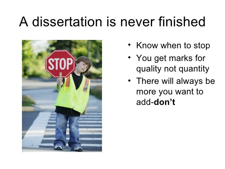 How to do a dissertation know