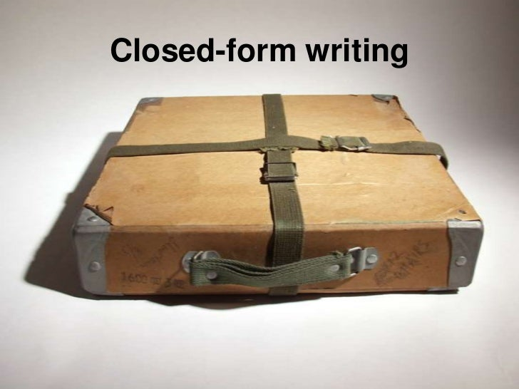 Closed-form writing